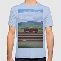 Train Car. Mens Fitted Tee Athletic Blue SMALL
