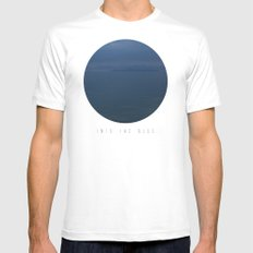 Into The Blue  SMALL White Mens Fitted Tee