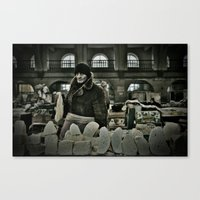 Cheese Seller Canvas Print