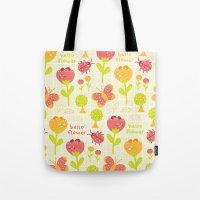 Hello Flower Tote Bag