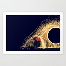 Fire Rain Art Print