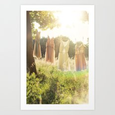 Lace laundry Art Print