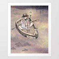 flying fith Art Print