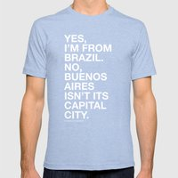 From Brazil II Mens Fitted Tee Tri-Blue SMALL