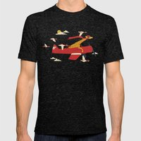 Red Barons Mens Fitted Tee Tri-Black SMALL