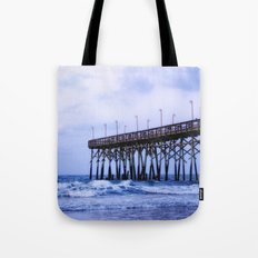 Waves against the Pier Tote Bag