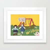 I am Right, You are Wrong Framed Art Print