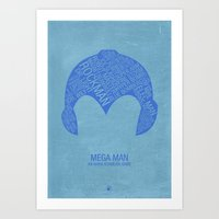 Mega Man Typography Art Print