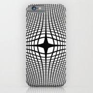 Black On White Convex iPhone 6 Slim Case