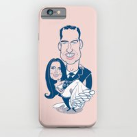 iPhone & iPod Case featuring Caricatures of Prince William and Kate Middleton by drawgood
