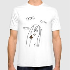 Nom, nom, nom #2 White SMALL Mens Fitted Tee