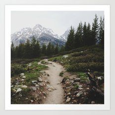 Teton Trail Art Print