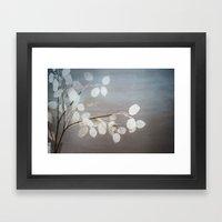WHITE PAPER FLOWERS Framed Art Print