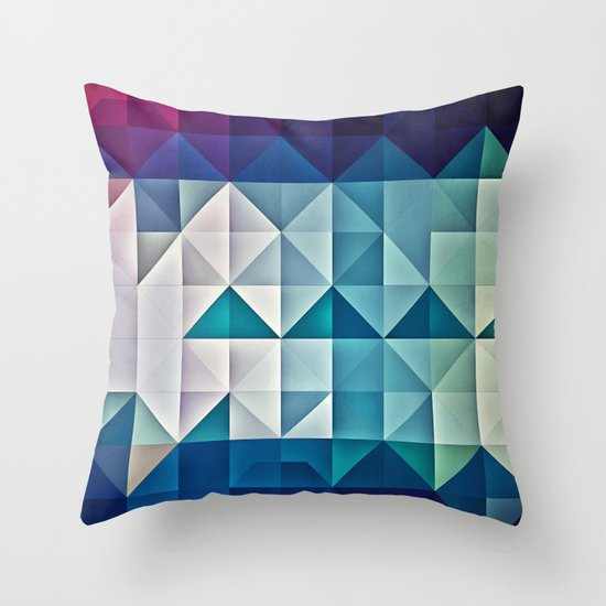 cool palette Throw Pillow