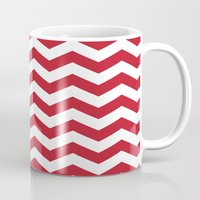 Red And White Bold Chevr… Mug