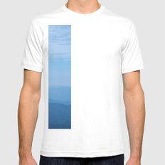 Blue Ridge Mountains White Mens Fitted Tee SMALL