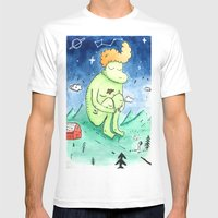 Naked Giant Mens Fitted Tee White SMALL