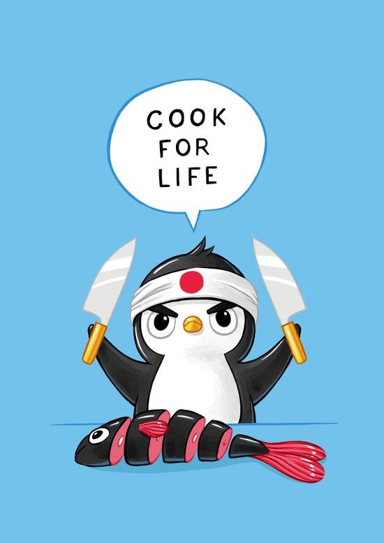Penguin Chef Art Print