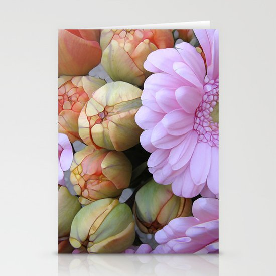 Daisy Loves Tulips Stationery Card