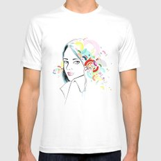 Thoughts SMALL White Mens Fitted Tee