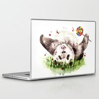 panda Laptop & iPad Skins featuring Panda by Anna Shell