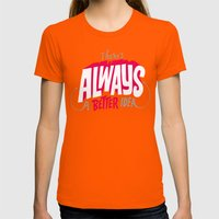 Better Idea Womens Fitted Tee Orange SMALL