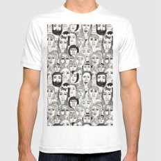 Faces in the Tube SMALL White Mens Fitted Tee