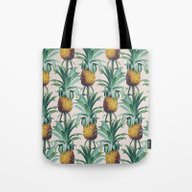 Tote Bag featuring Pineapple Trellis by Marta Li