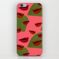 retro lips (2) iPhone & iPod Skin