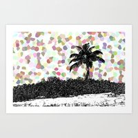 Palm Tree - Points Art Print