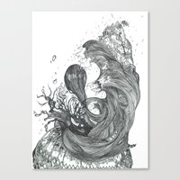 Eatsleepdraw cover art - liquid theme Canvas Print