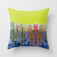 Fragmented Worlds I Throw Pillow