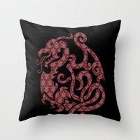 Modern Damask 2 Throw Pillow