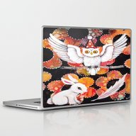 Laptop & iPad Skin featuring The Owl by Judy Skowron