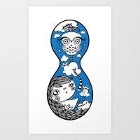Polypop Owl Art Print