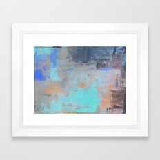 Painterly Blues Framed Art Print