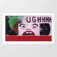 UGHHHH VHS Art Print