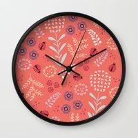 Little Ladybugs Wall Clock