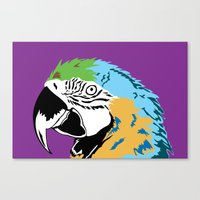STATIONERY CARD - Parrot Canvas Print