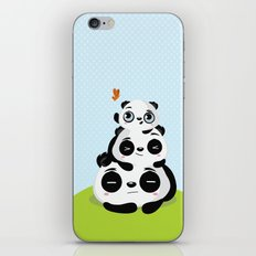 Panda family iPhone & iPod Skin