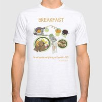 Breakfast, the Most Important Meal of the Day Mens Fitted Tee Ash Grey SMALL