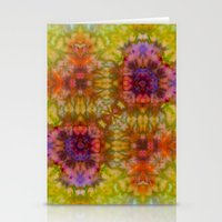 Burgundy And Olive Abstr… Stationery Cards