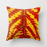 Tiger Leaf Throw Pillow
