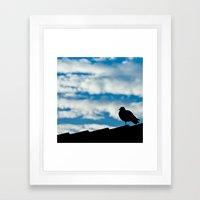 Bird & Clouds Framed Art Print
