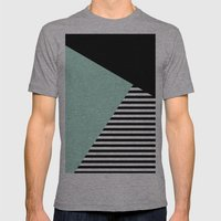 Mint Color Block with Stripes // www.penncilmeinstationery.com Mens Fitted Tee Athletic Grey SMALL