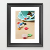 Buttons And Teacups 2 Framed Art Print