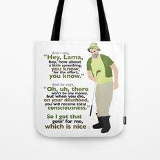 Carl Spackler and the Lama Tote Bag