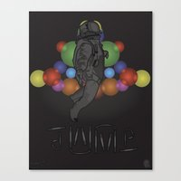 Canvas Print featuring STEALTH JUMPMAN by SPIFF ART