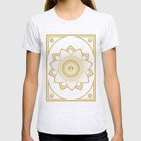 Peace Lotus Womens Fitted Tee Ash Grey SMALL