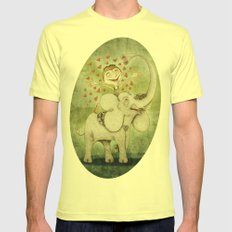 Elephant Mens Fitted Tee Lemon SMALL